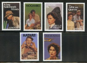 LESOTHO AFRICAN  MOVIES  SET OF STAMPS MINT NH
