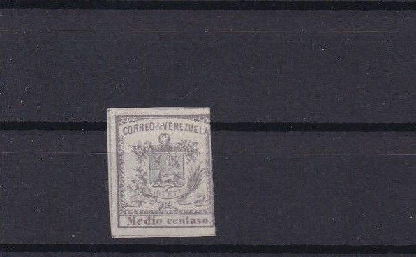 VENEZUELA 1862 IMPERF STAMP ½ CENTAVO MOUNTED MINT  CAT £31  REF 6305