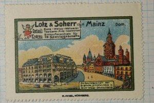 LOtz & Scherr Fashion Dept Store Nurnberg German Brand Poster Stamp Ads