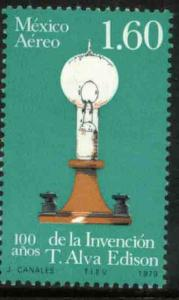 MEXICO C621, Cent Invention of Electric Light. MINT, NH. VF.