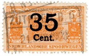 (I.B) Netherlands Railway (Spoorwegen) : Parcel Stamp 35c