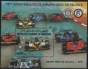 MAURITANIA, 505, SOUVENIR SHEET USED, 1982, 75th Anniv. of Grand Prix