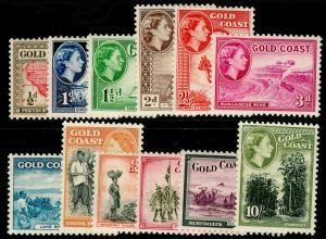 GOLD COAST SG153-164, 1952-54 COMPLETE SET, LH MINT. Cat £70.