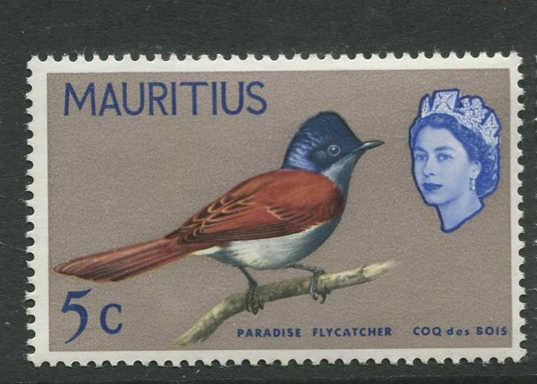 Mauritius - Scott 279 - Birds Definitive Issue-1965- MNH- Single 5c Stamp