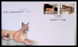 CANADA Sc#2122-2123 Cougar and Leopard Canada-China Joint Issue (2005) FDC