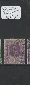 LEEWARD ISLANDS (P2007B) KGV 1D SG62  DOMINICA     VFU