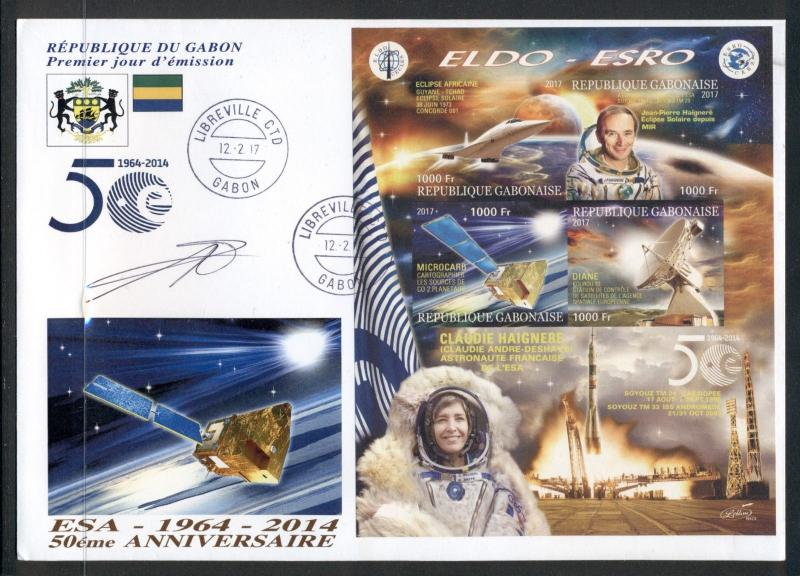 Space ESA Spacecraft Astronaut Haignere Gabon FDC first day cover