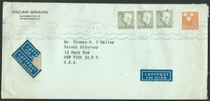 SWEDEN 1953 commercial airmail cover to USA................................60675