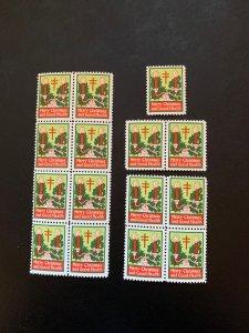 Christmas Seal 1925, CS 19, WX36, Type II, See discription, MNH, $8.00