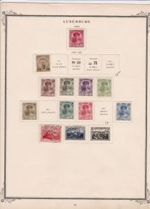 luxembourg stamps on 2 album page ref 13442