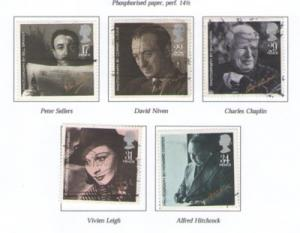 Great Britain Sc 1119-3 1985 Movie Stars stamps used
