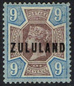 ZULULAND 1888 QV GB 9D