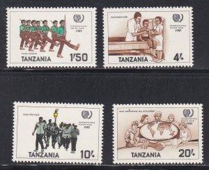 Tanzania # 290-293, International Youth Year, NH, 1/2 Cat