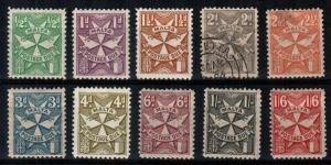 Malta Scott J11-20 Mint hinged (J15-16 thin, J14 is used)