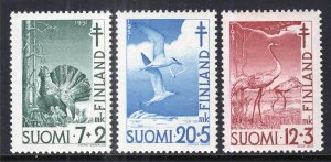 Finland B107-B109 Birds Unused Mint Hinged BIN