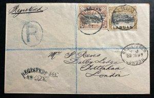 1897 Labuan North Borneo Registered Cover To Tottenham England SG#95a