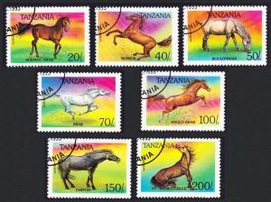 Tanzania Horses 7v CTO SG#1710-1716 SC#1152-1158