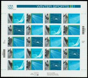 PCBstamps   US #3552/3555 Pane $6.80(5x4x34c)Winter Olympics, MNH, (4)