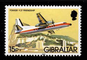 GIBRALTAR Scott 423  MNH** airplane stamp