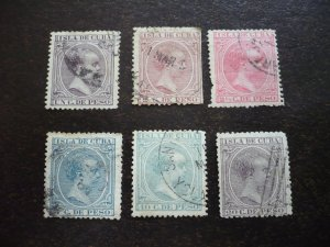 Stamps - Cuba - Scott# 135,139,143,146,149,153 - Used Set of 6 Stamps