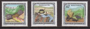 Austria    #1671-73  MNH  1995  folklore and customs