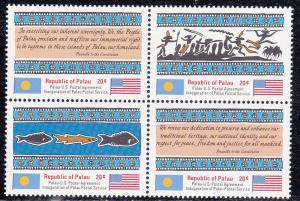 Palau # 1-4, Block of Four, Mint NH