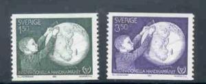 Sweden Sc 1354-5 1981 disabled stamp set mint NH