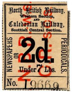 (I.B) North British Railway & Caledonian Railway : Newspaper Parcel 2d
