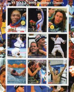 Turkmenistan 2000 Sydney 2000 Summer Olympic Games Sheetlet (9) MNH VF