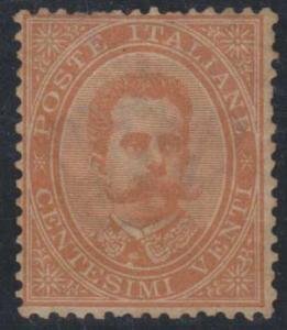 ITALY SC 47 UNUSED OG TROPICALIZED WELL CENTERED COPY JUST F SCV$450