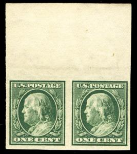 US #343 SUPERB mint never hinged, PAIR, post office fresh, super select pair,...
