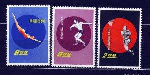 J22929 JLstamps 1960 taiwan china mnh #1284-6 sports