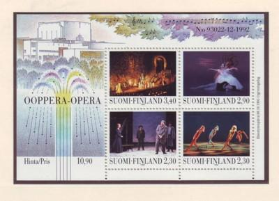 Finland Sc 927 1993 New Opera House stamp sheet mint NH