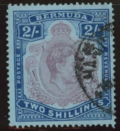 BERMUDA Scott 123 used 2sh stamp CV$12