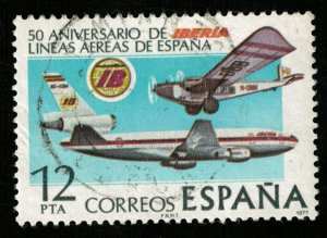 Spain, 12 PTA, IBERIA, 1977 (T-7348)