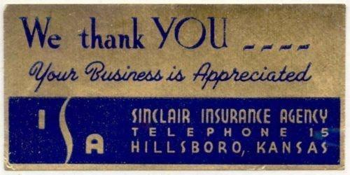 Sinclsair Insurance Agency Advertising Poster Stamp