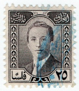 (I.B) Iraq Revenue : Duty Stamp 25f (King Faisal II)
