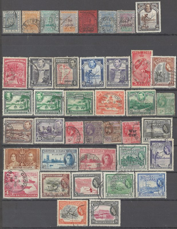 COLLECTION LOT # 2355 BRITISH GUIANA 40 STAMPS 1882+CV+$21