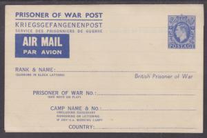 Great Britain H&G IG2 mint. 1942-1945 2½p Prisoner of War Letter Sheet