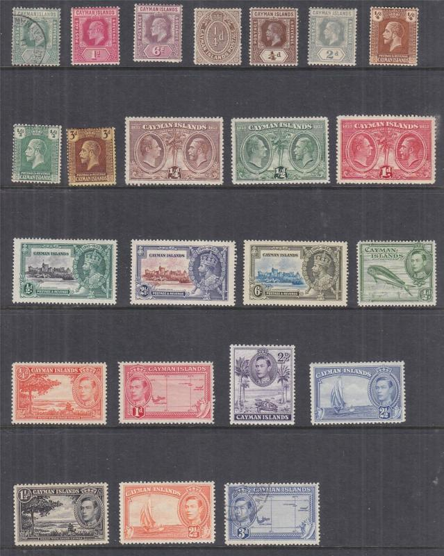CAYMAN ISLANDS, selection from KEVII 1907 to QE 1964, mnh./lhm/used (76)