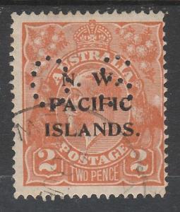 NWPI NEW GUINEA 1919 KGV OS 2D ORANGE USED