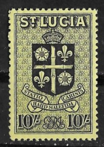 St. Lucia # 125  Coat of Arms  10sh.  (1)  VLH Unused
