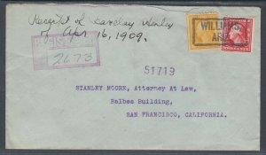 US Sc 338, 375 on Cover, 1911 Boxed Williams, AZ cancel, Unique!