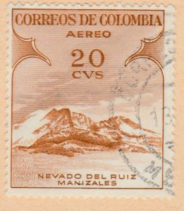 Colombia Air Post 1954 20c Fine Used A8P52F46