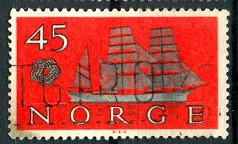 Norway; 1960: Sc. # 384: O/Used Single Stamp