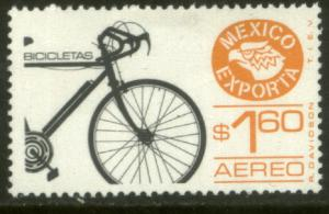 MEXICO EXPORTA C491, $1.60P. BICYCLES, PAPER 4. MINT, NH. VF.
