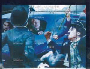 CHARLIE CHAPLIN Mini Sheet of 9 MNH TADJIKISTAN - E2