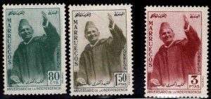 Morocco Northern Zone Scott 9-11 MNH** 1957  stamp set