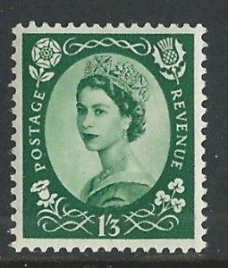 Great Britain # 307  QE II - 1sh3d. Definitive   1953  (1) Mint NH