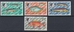 ASCENSION  1970  S G 126 - 129  FISH  SET  MNH
